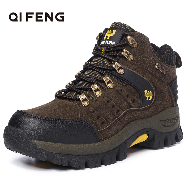 2019 Couples Outdoor Mountain Desert Climbing shoes. Men Women Ankle Hiking Boots, Plus Size Fashion Classic Trekking Footwear title=