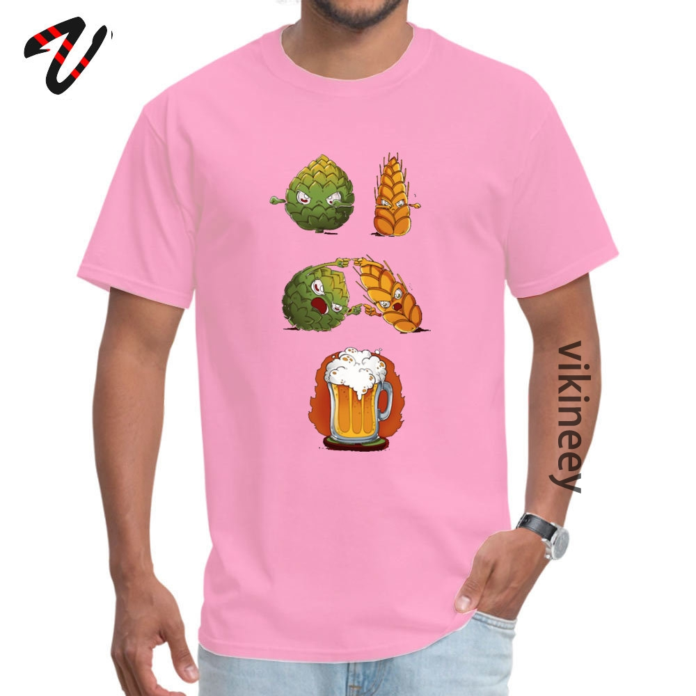 Cotton Youth Short Sleeve BEERFUSION T-Shirt comfortable Tops Shirt Company Leisure Round Neck Tops Tees Drop Shipping BEER-FUSION0705 pink
