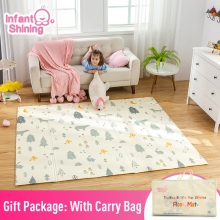 Infant Shining 200cm*180cm*1cm Baby Play Mat Folding XPE Crawling Pad Home Outdoor Folding Waterproof Puzzle Game Playmat