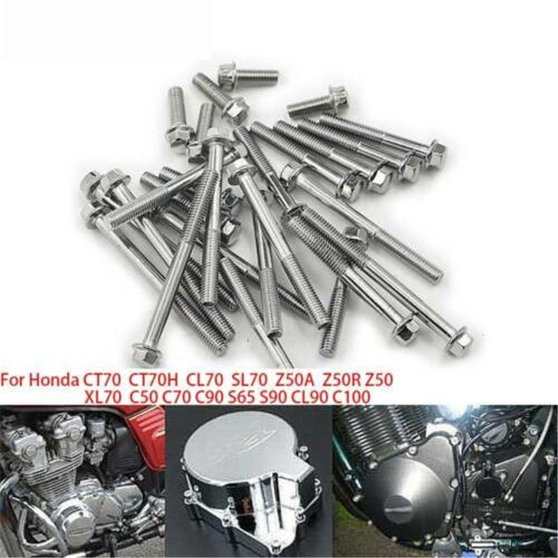 Honda Z50A Z50R Z50 mini trail metric engine side cover screws replacement set