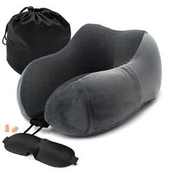 1 шт. u-образные подушки для шеи с эффектом памяти мягкий медленный отскок космическая подушка для путешествий однотонный шейный затылочный ...