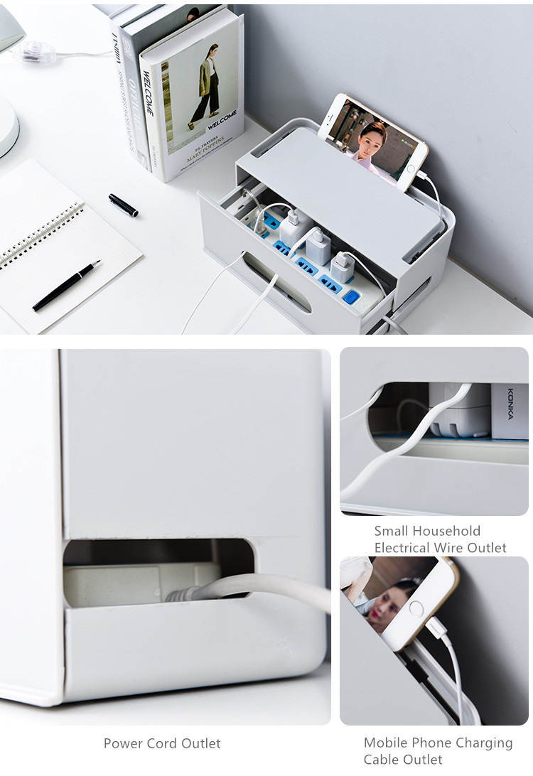 Double Layers Drawer Type WIFI Router Storage Box 72