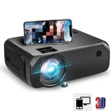 Wireless-Projector Mirroring-Screen Movie Portable Home Theater Phone-Same 720P LCD 3D