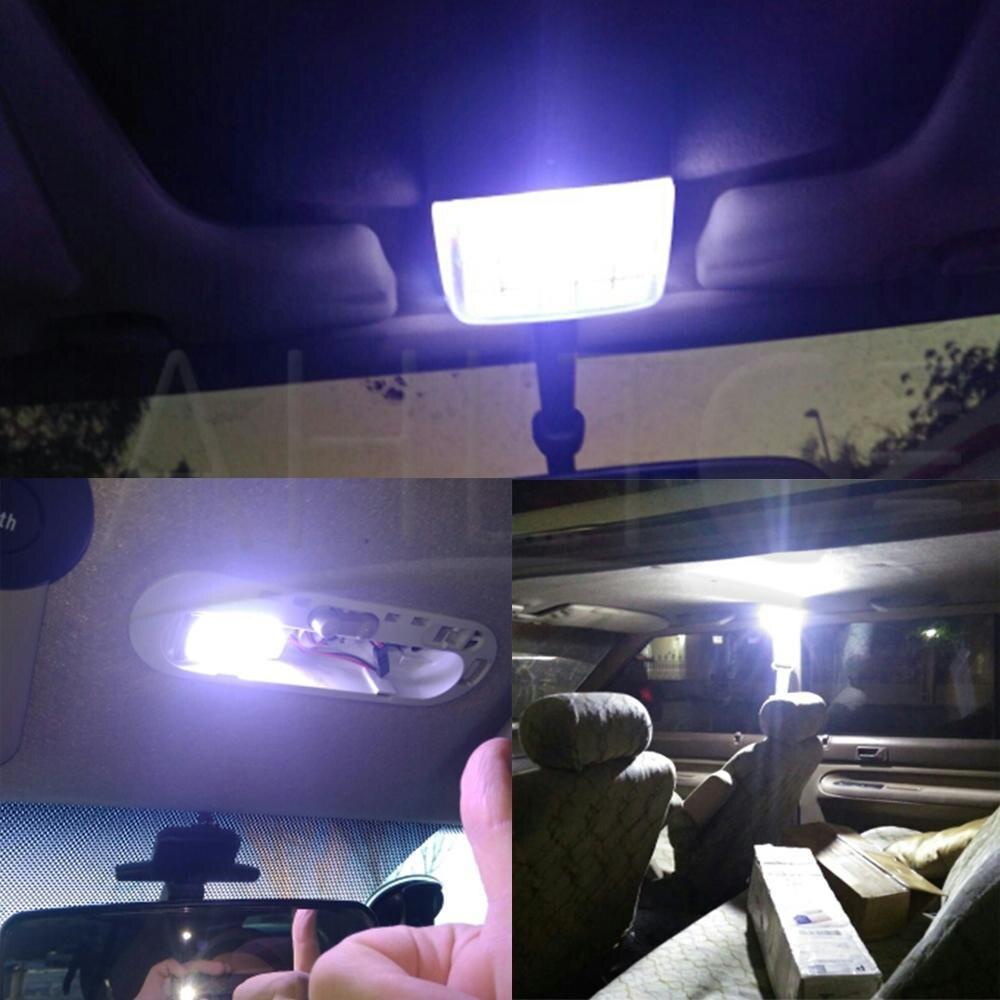 Quaant Car LED Light,Universal 4pc 8W Car COB 24 Chip LED Car Interior Light T10 Festoon COB 12V Panel Light Car Parking Light Yellow