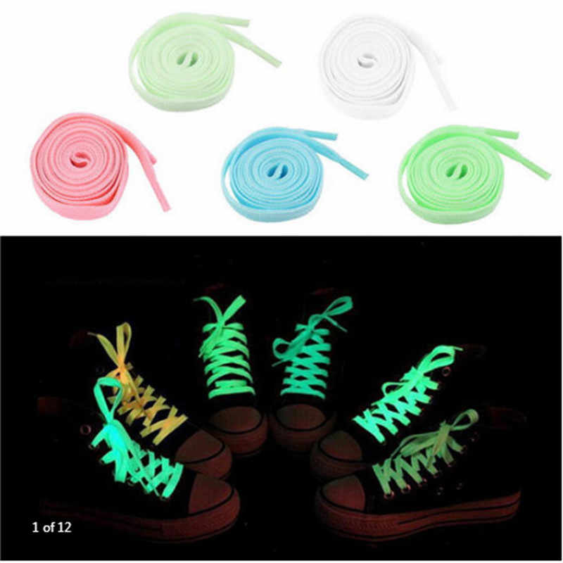 100cm Sports Light Lace Dark Glow Fluorescent Lace Sports Flat Shoes Lace Hot Party Bar Toy Supplies