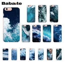 Чехол для телефона Babaite Blue sea Wave для iPhone XR 11 Pro Max XS MAX 8 7 6 6S Plus X 5 5S SE(China)