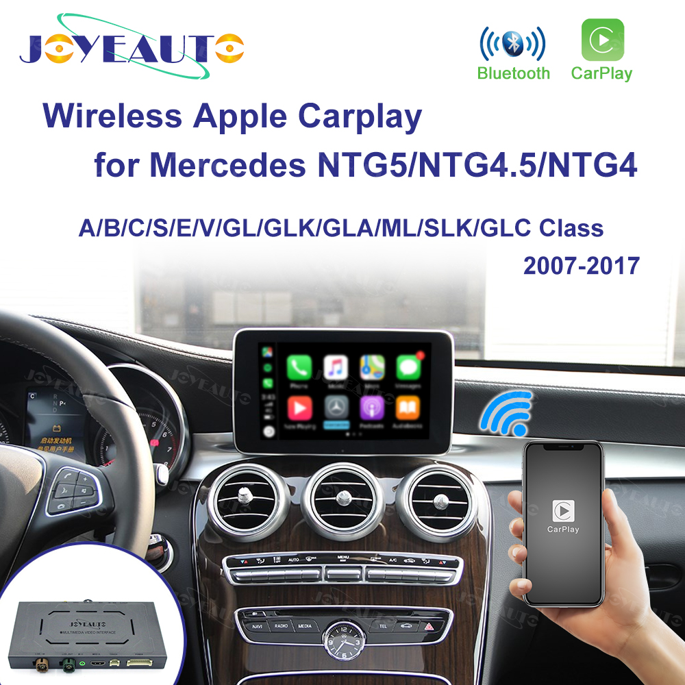 Joyeauto Wireless Apple Carplay For Mercedes NTG5.0/NTG5.5/NTG4.5/4.7/4.0 W205 X156 2007-2017 iOS13/Android Auto Mirror Car play title=