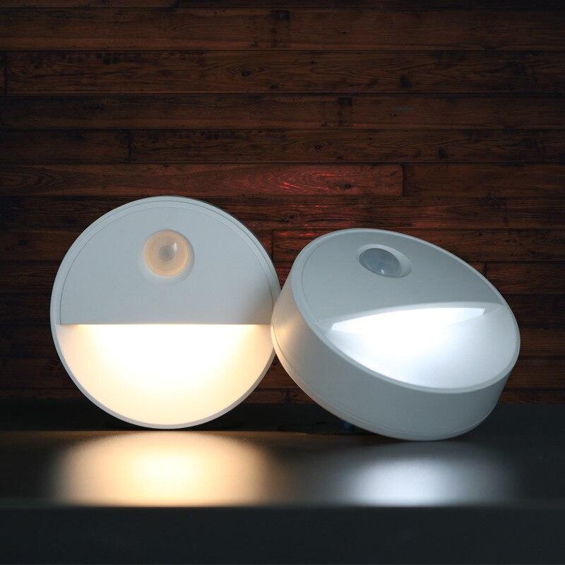 PIR Motion Sensor Night Light Wireless Wall Lamp Magnet Closet Lights Stairs Bedroom Kitchen LED Night Light Battery Power