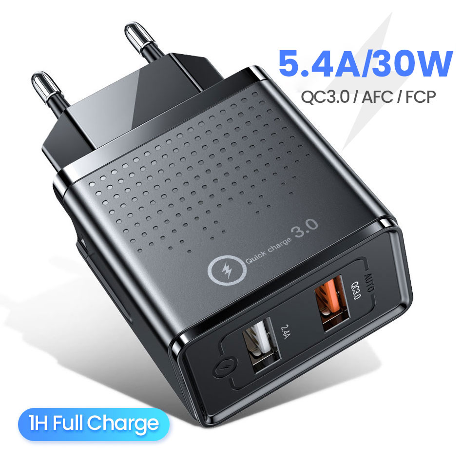 FIVI usb phone charger fast charger for xiaomi samsung S10 S9 S8 QC 3.0 usb charger for huwei phone charger for iphone title=
