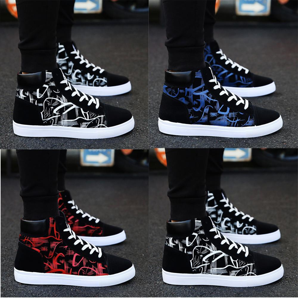 Men Sneakers Sport-Shoes Student-Board High-Top Vogue Men's Summer Han-Edition of title=