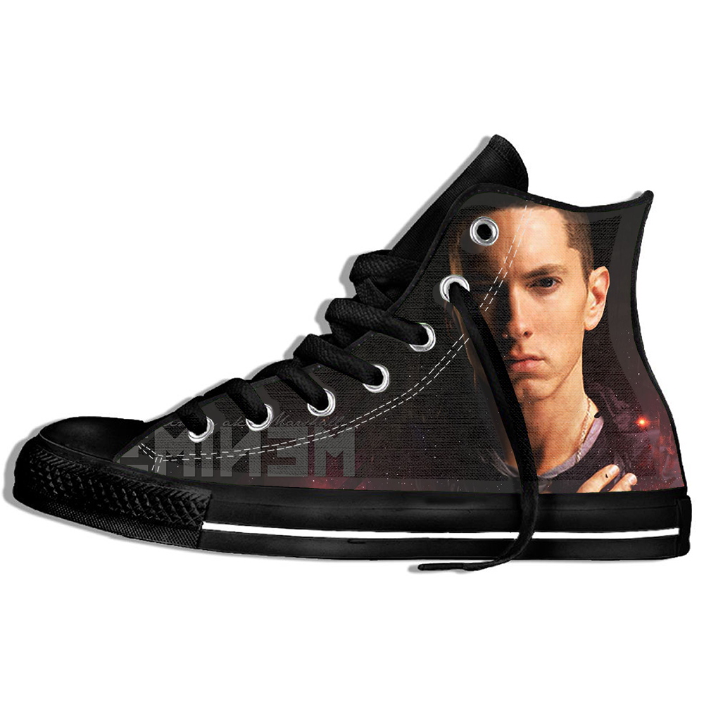 Rock Hip-Hop Eminem Eminem BAD Casual Flat Cnvas Shoes Unisex Couple Shoes