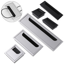 Cable-Holder Outlet-Port Grommet-Hole-Cover Rectangle-Wire Aluminum-Alloy with Black-Brush