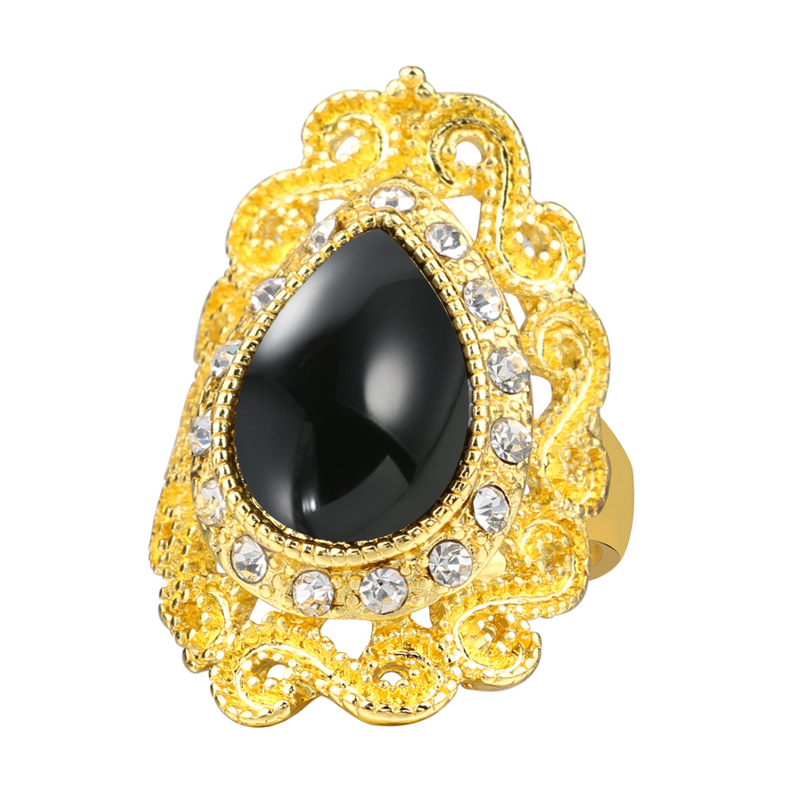 2016-Fashion-Black-Ring-Women-s-Jewelry-Gold-Color-Austrian-Crystal-Rings-Mosaic-Water-Drop-Resin