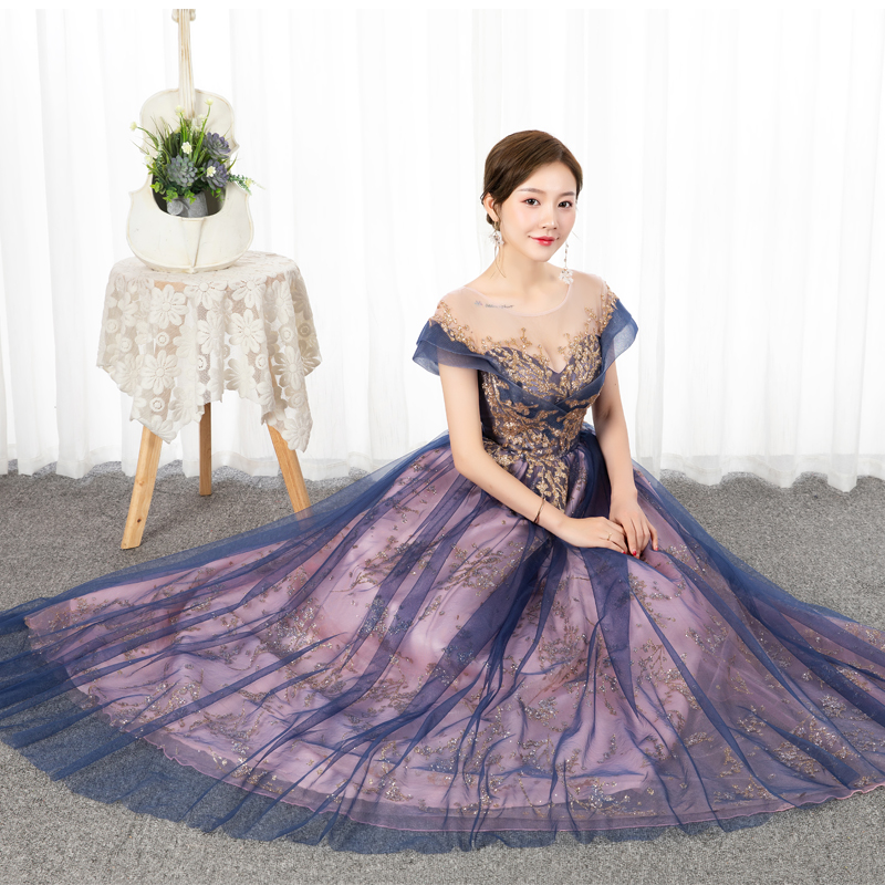Quinceanera Dress 2021 Mrs Win Luxury Party Prom Formal Dress Short Sleeve Floor-length Ball Gown Vintage Quinceanera Dresses