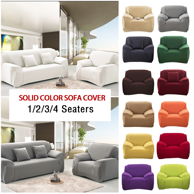 1-4 Seaters Sofa Couch Cover Washable Slipcover Chair Sofa Protector Full Covers