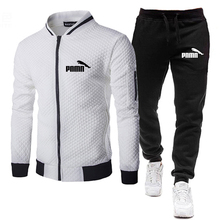 Brand Men Clothing Tracksuit Jacket Sweatshirt Men-Sets Winter Men's 2pieces Pants Casual