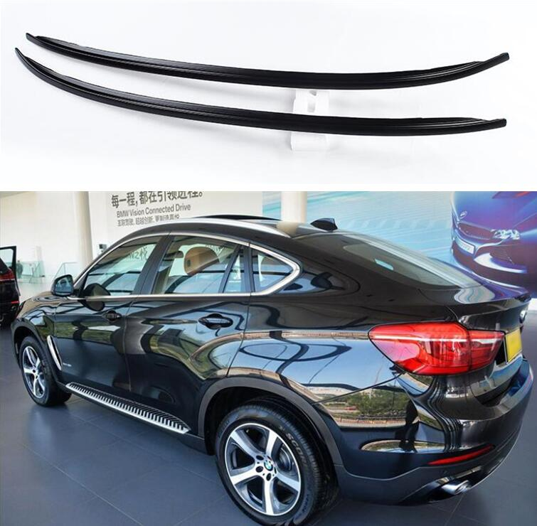 Baggage-Luggage Roof-Rack Aluminum-Alloy for BMW X6 Paste-Installation Silver Black F16 title=