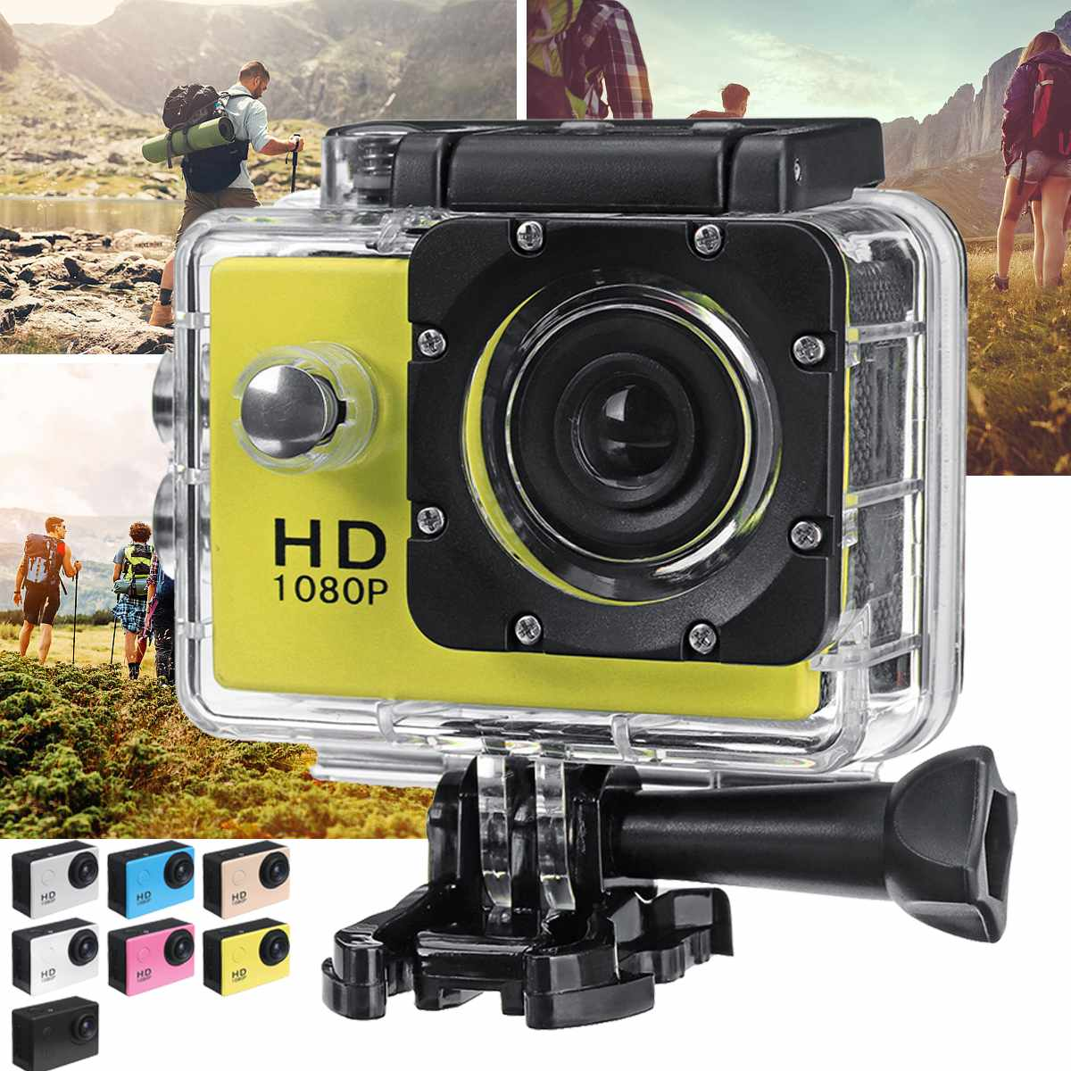 DV Camcorder Lcd-Screen Skiing Waterproof Outdoor Sport 1080P 4K Driving Multifunctional title=