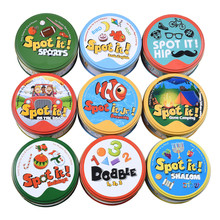 Game-Toy Board-Games It-Card Gift Sport-Go Dobble Kids Camping Animals Hip Alphabet123