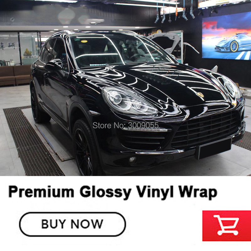 The fourth generation super Ultra Glossy Black Vinyl Film Gloss Black Car Wrap Foil solvent based low initial tack adhesive title=