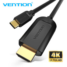 Кабель Vention USB C к HDMI, кабель Type C HDMI 4K @ 30 Гц для MacBook Huawei Mate 20 P20 Pro Samsung Galaxy S10 Type-c HDMI адаптер(Китай)