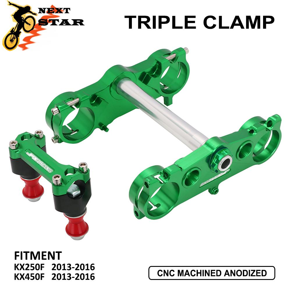Clamps Riser-Mount-Clamp KXF250 Lower KX450F Kawasaki Upper Handlebar CNC for Steering-Stem title=