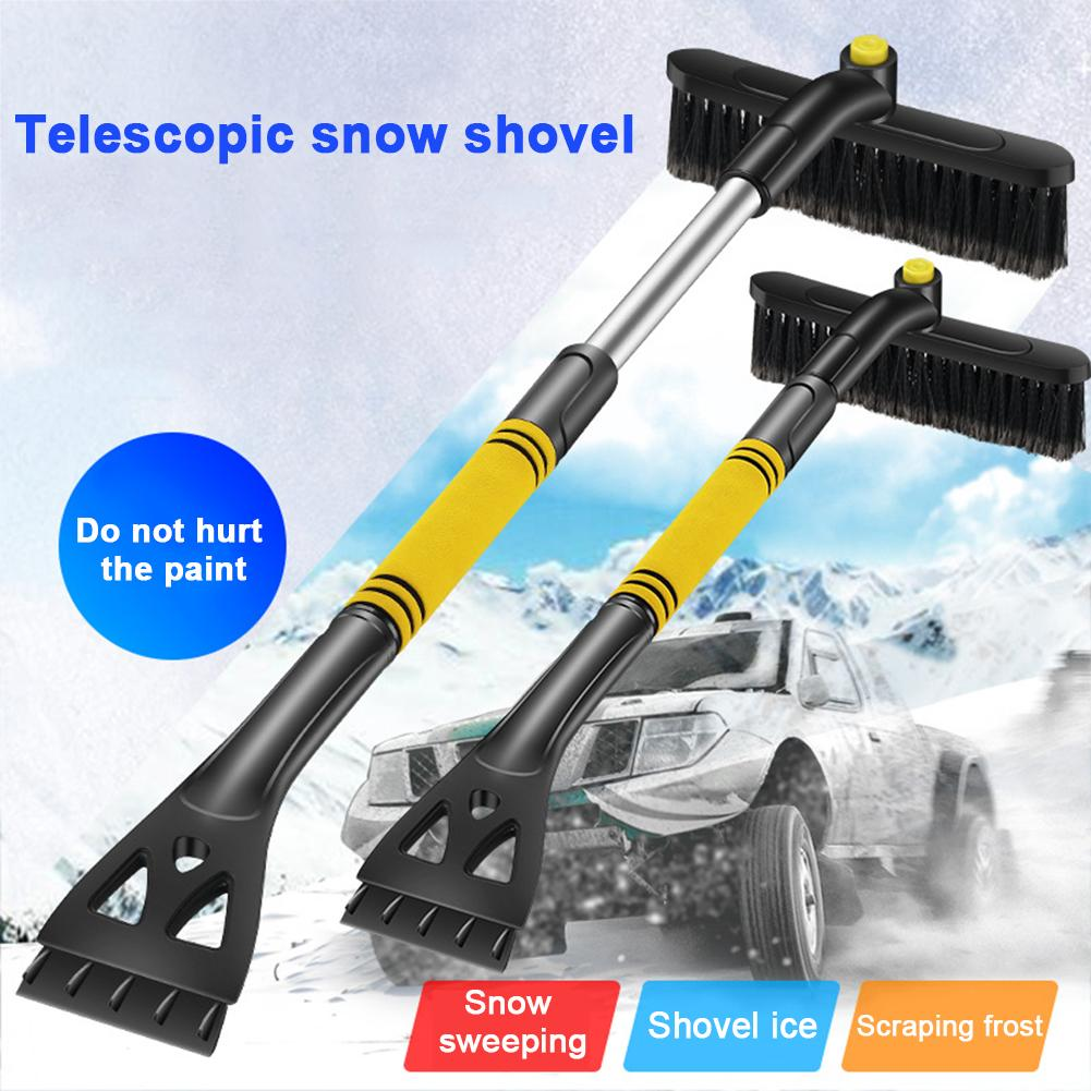 Convenient and Practical Easy to Carry Snow Scraper Stainless Steel Snow Remover Windshield Scraper Ice Scraper Snow Removal Tools for Car SUV Truck Window