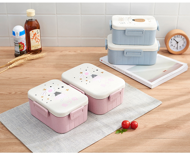 TUUTH Cute Cartoon Lunch Box Microwave Dinnerware Food Storage Container Children Kids School Office Portable Bento Box B2