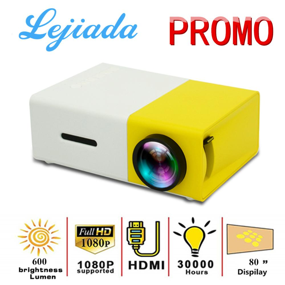 LEJIADA YG300 LED Mini Projector 320x240 Pixels Supports 1080P YG-300 HDMI USB Audio Portable Projector Home Media Video player