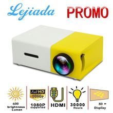 LEJIADA Mini Projector Video-Player Supports Media Audio Pixels Yg300 Led HDMI Home 1080P