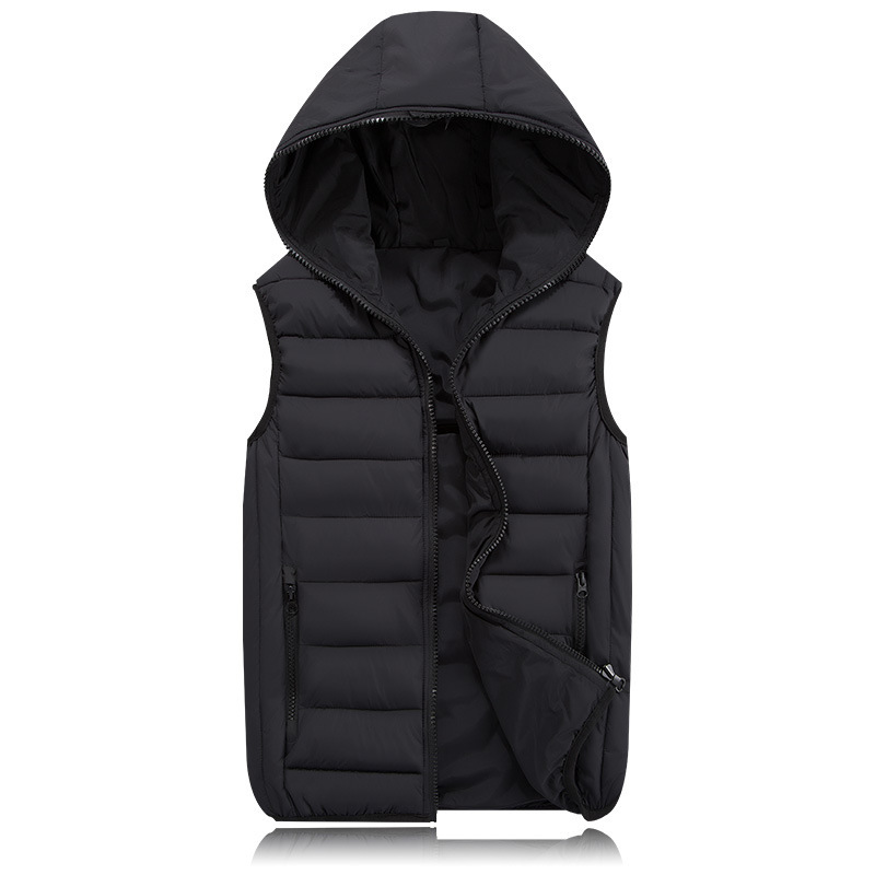 Casual Coats Spring Warm Sleeveless Jacket for Men Fashion Hooded Male Winter Vest Light Plus Size 4XL Mens Work Vests Waistcoat