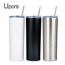 Skinny Tumbler Travel Mug Sublimation Straw-20oz Coffee Stainless-Steel Insulated UPORS