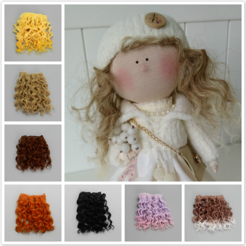 3PCS//Lots 25cm x 100cm Charming Wavy Curls Soft Colored Heat Resistant Hair Wefts for Making BJD Blythe Pullip SD Dolls Wig DIY Doll Making Accessories Color A