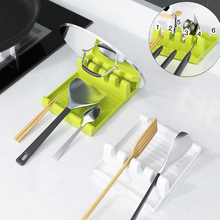 Shelf-Organizer Chopsticks-Holder Spatula-Rack Spoons-Pad Kitchen-Bracket Plastic Fork