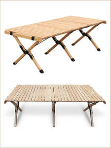 Wooden Table BBQ Tra...