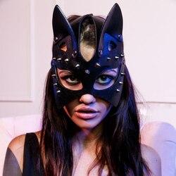 Новая Сексуальная Маскарадная маска Fullyoung с кроликом и кроликом из кожи БДСМ фетиш эротическая маска с кошачьими ушками для Хэллоуина, карн...
