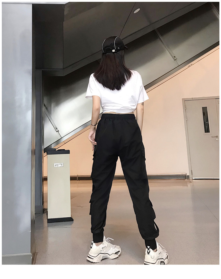 Hot Big Pockets Cargo pants women High Waist Loose Streetwear pants Baggy Tactical Trouser hip hop high quality joggers pants 20