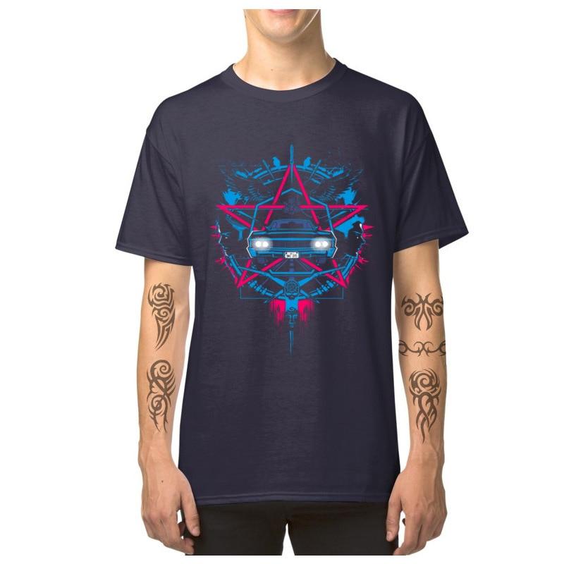 Car_Logo_-_Supernatural_3493 Casual T-Shirt for Male 100% Cotton Summer Fall Tops Shirts Tops Shirts 2018 Newest Round Neck Car_Logo_-_Supernatural_3493 navy