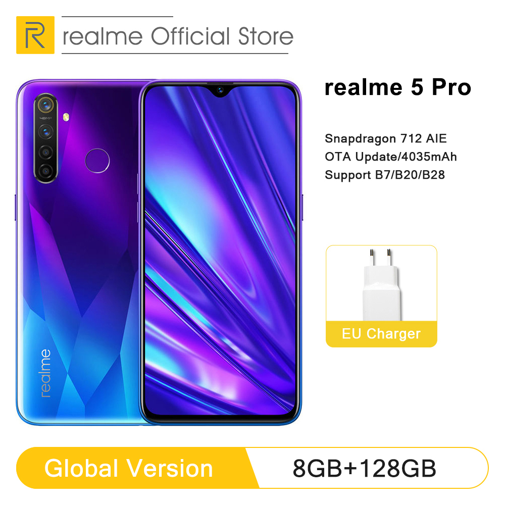 Realme 128GB 4GB WCDMA/LTE/GSM Vooc Bluetooth 5.0 Octa Core Face Recognition/fingerprint Recognition title=