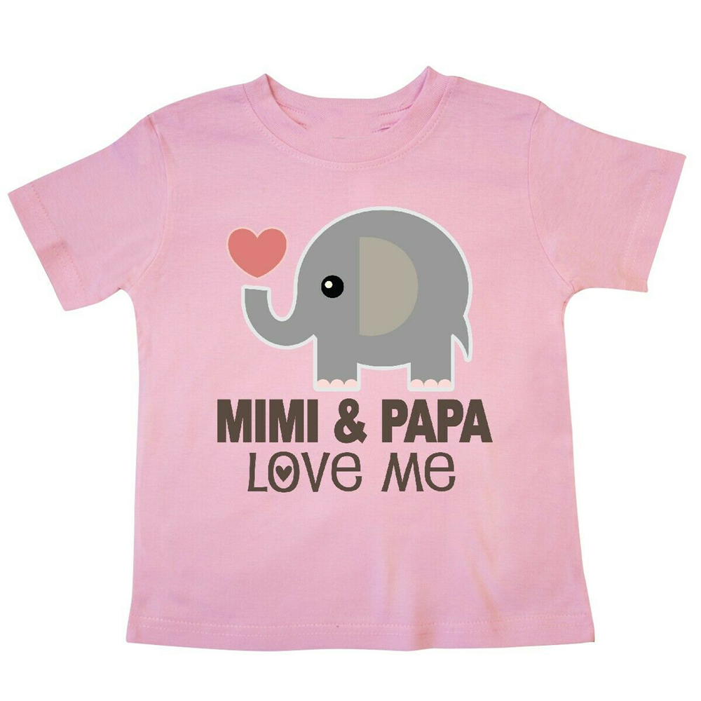 Painted Flowers and Hearts Baby T-Shirt inktastic My Grandparents Love Me