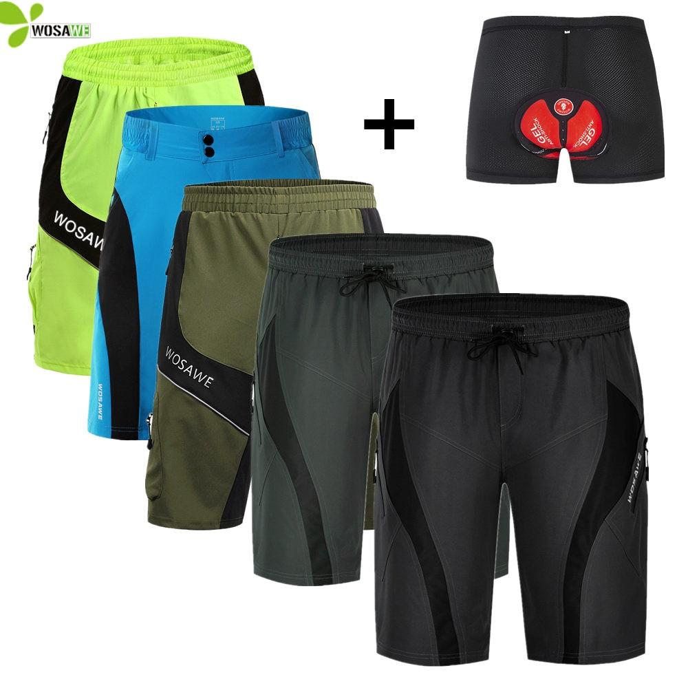 MTB Cycling Shorts for Men 3D Gel Padded Bike Short Trousers Biking Tights Wear