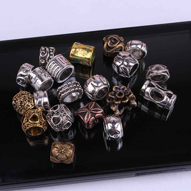 Assortiment de Bijoux dreadlocks Argentés en métal | Rasta Lion