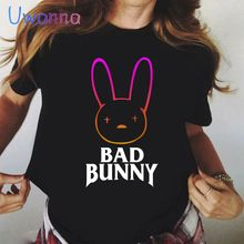 Graphic Tee Shirt Oversize 90s Bad-Bunny Vogue Korean-Style Vintage Women Tops Printed