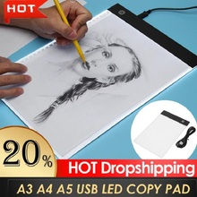Table-Plate Paper Drawing Writing-Painting Kids Board Copy-Pad Tracing USB Led A4 Artist