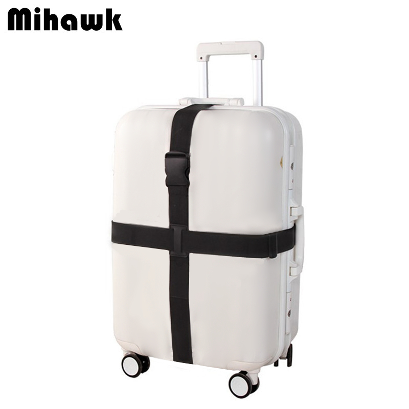 Mihawk Adjustable Cross Luggage Straps Travel Trolley Suitcase Personalized Safe Packing Belt Parts Items Accessories Supplies messenger bag