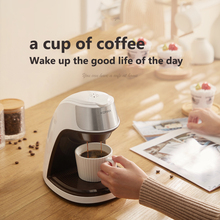 KONKA Single Serve Coffee Maker Machine with Thermal Mug Compatible with K Cup Pod and Ground Coffee 3 Mins Fast Brew Single Cup