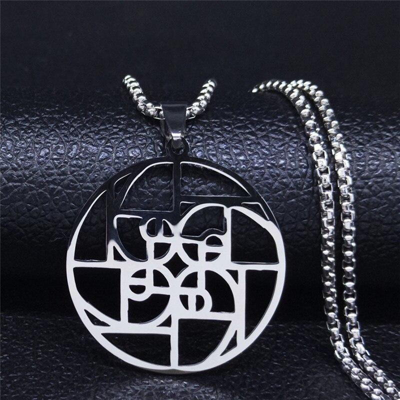 Image collier avec pendentif ratio médiéval en argent
