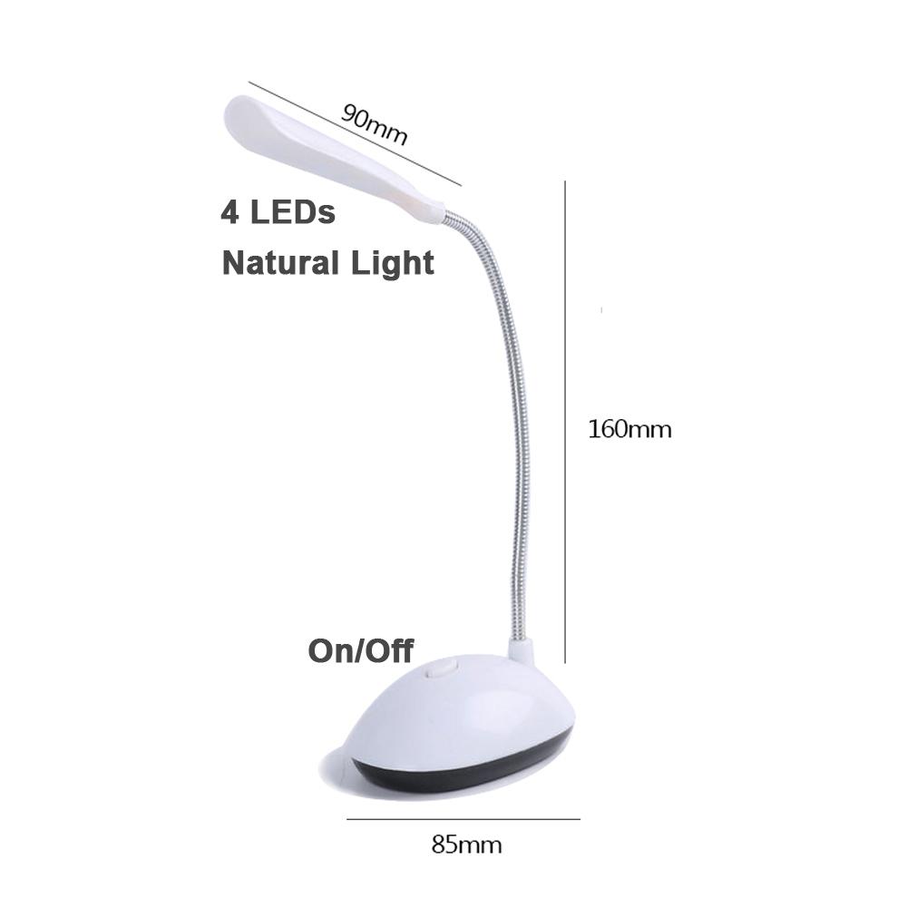 Luminária Led de Mesa com Haste Flexível - LumiFlex