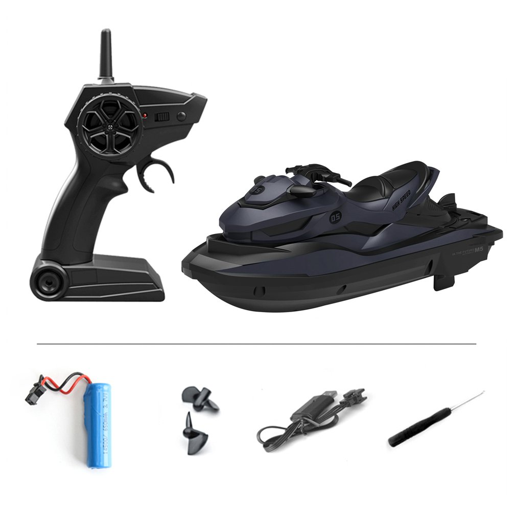 Weaponry - 2.4G 4CH Mini RC High Speed Waverunner Motorcycle Model with Light Kids Robot RC Motorbike Toys