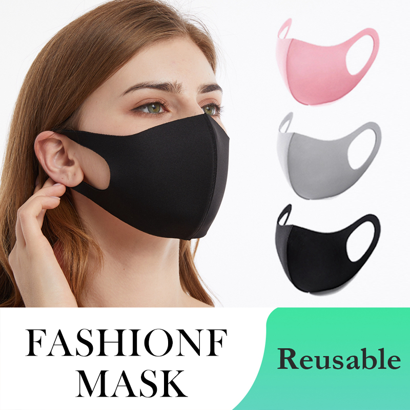 Mask Fashion Black Cool Washable Reusable Mouth Mask Women Man Cloth Mask Proof Mascarilla Masque PM2.5 Filter Pollution Masks